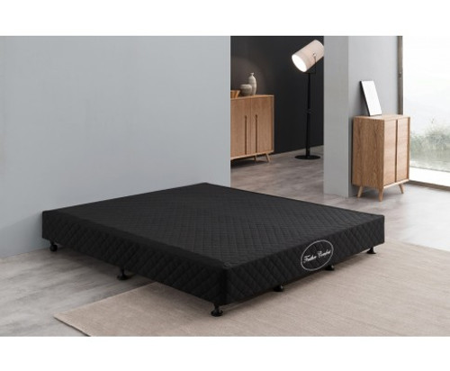 FEATHER COMFORT QUEEN SIZE MATTRESS BASE ONLY   BLACK