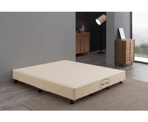 FEATHER COMFORT  QUEEN   BASE ONLY FOR MATTRESS  - BEIGE