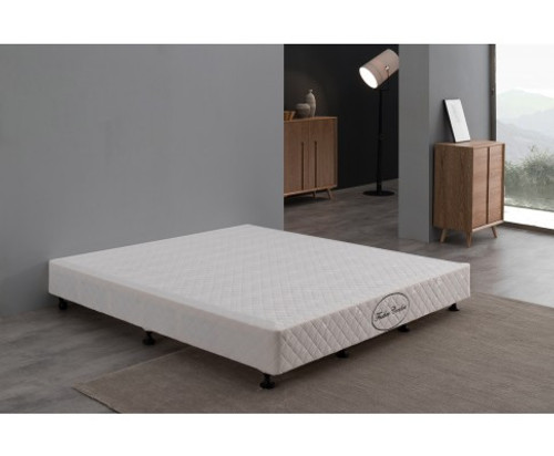 FEATHER COMFORT QUEEN  MATTRESS BASE ONLY   - WHITE