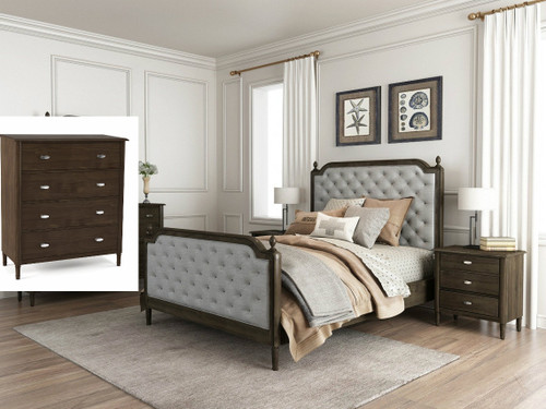 COSLENE QUEEN  4  PIECE  TALLBOY  BEDROOM SUITE - (16-18-1-7-21-5)  - AS PICTURED