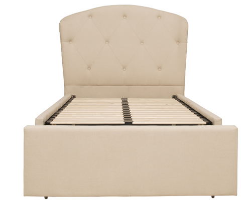 MILAN   SINGLE  FABRIC BED  ONLY (WITHOUT TRUNDLE)  - CREAM