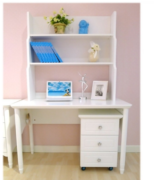 DALLAS TIMBER STUDY DESK ONLY  (WITHOUT HUTCH & CABINET)- WHITE