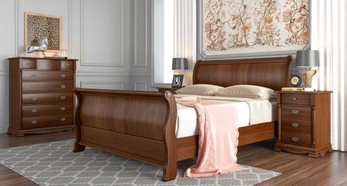 DAVINCHIE QUEEN 6 PIECE (THE LOT) TASMANIAN  OAK BEDROOM SUITE -  BROWN