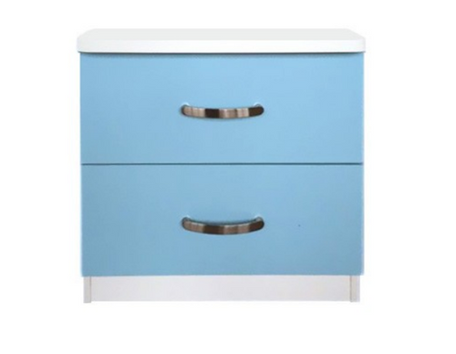 ICICLE  TWO DRAWER BEDSIDE TABLE  -   TWO TONE