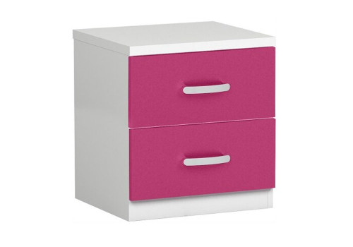 CASE  TWO DRAWER BEDSIDE TABLE  -   TWO TONE
