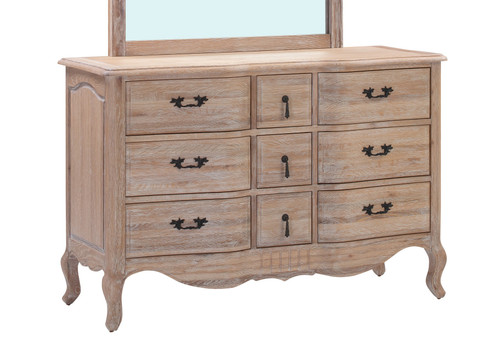 CAMBARIE DRESSING  TABLE WITHOUT MIRROR -   (EUROPEAN OAK) -  NATURAL