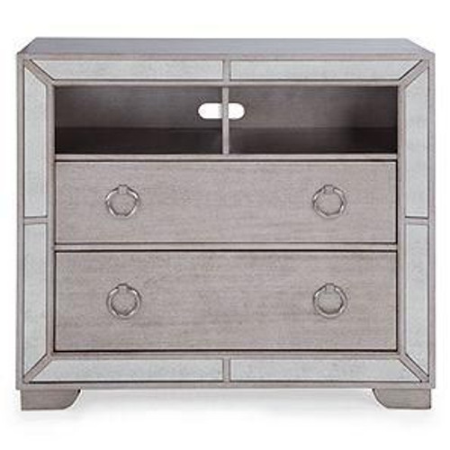 ADAMS TWO  DRAWER MIRRORED BEDSIDE   - 550(H) X 550(W) - (MODEL:181013) -