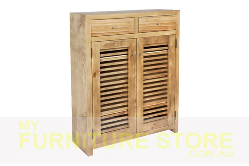 BANDY EXTRA LARGE 2 DOOR / 2 DRAWER SHOE CABINET (MODEL:500D) - 1200(H) x 1250(W) – ASSORTED COLOURS