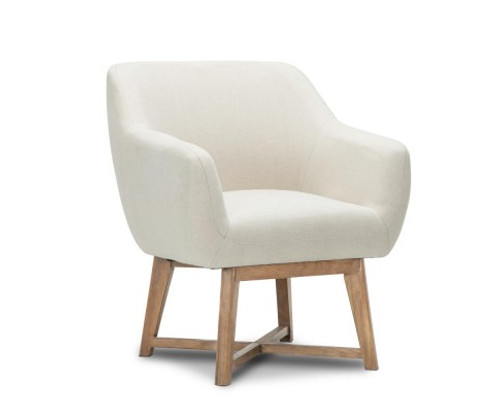 ACCON FABRIC LOUNGE ARMCHAIR - BEIGE