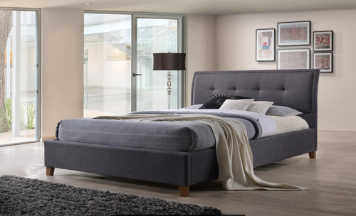 DOUBLE  LAVER  FABRIC BED  - DARK GREY