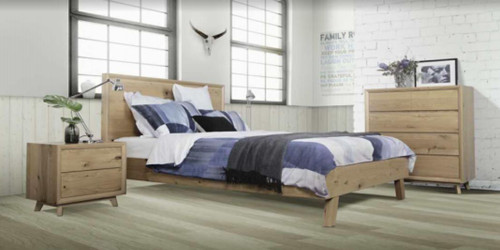 HUDSON  QUEEN 4 PIECE TALLBOY  BEDROOM SUITE - AS PICTURED