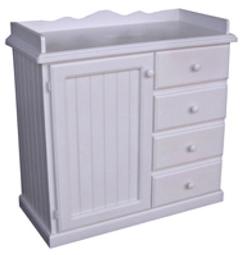 BABY CHANGE TABLE 4 DRAWERS / 1 DOOR - 1030(H) X 1060(W) - ASSORTED PAINTED COLOURS