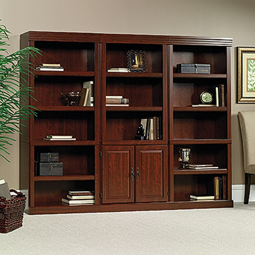 HERITAGE HILL 3 PIECE WALL UNIT / BOOKCASE / LIBRARY UNIT - 1810(H) x 2270(W) - CHERRY
