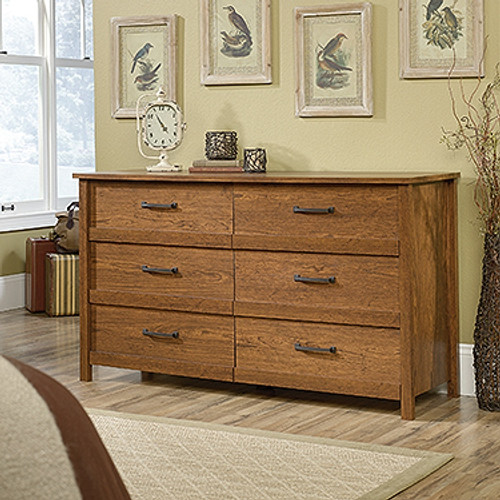 CANNERY BRIDGE 6 DRAWER DRESSING TABLE  - MILLED CHERRY FINISH