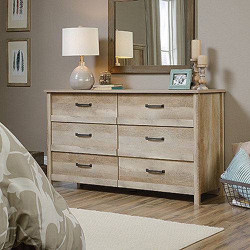 CANNERY BRIDGE 6 DRAWER DRESSING TABLE / LOWBOY - 1428(W) - LINTEL OAK FINISH