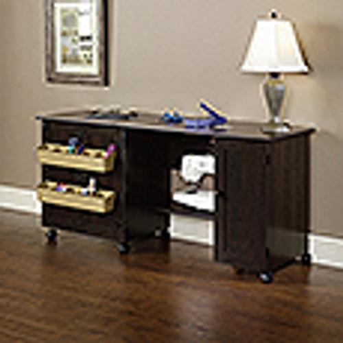 KESH EASY  ROLLING SEWING & CRAFT  TABLE (MODEL:411615) -  CINNAMON  CHERRY)  -  CINNAMON  CHERRY