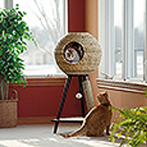 CANNERY NATURAL  SPHERE  CAT  TOWER - ESPRESSO FINISH