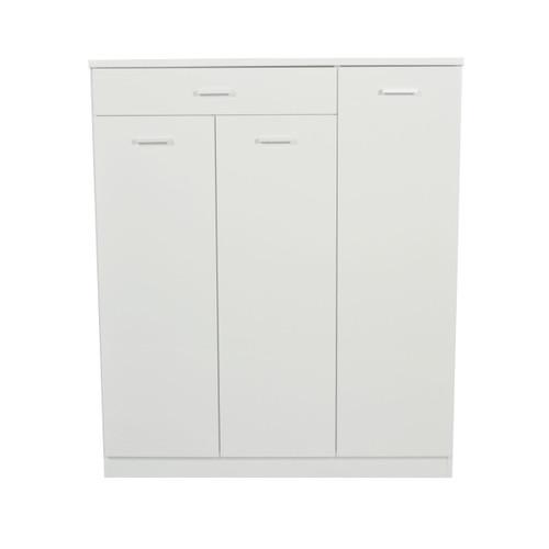 ADRIAN 3 DOOR SHOE CABINET - HIGH GLOSS WHITE