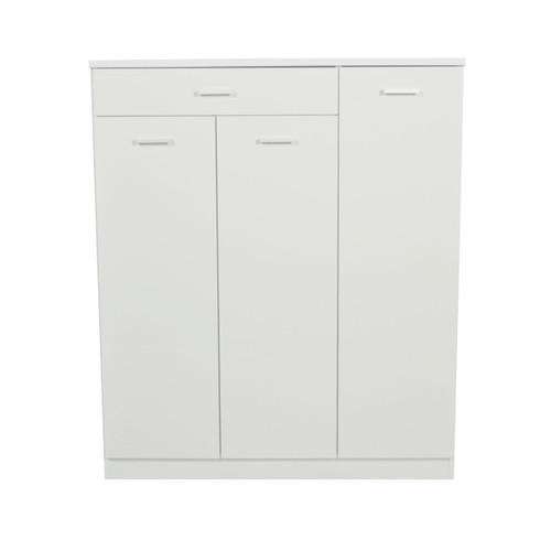 ADRIAN 3 DOOR SHOE CABINET - HIGH GLOSS WHITE