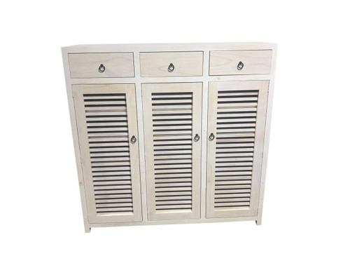 BANDY 3 DOOR / 3 DRAWER SHOE CABINET (MODEL:400D) - 1500(H) X 1500(W) - ASSORTED STAINED COLOURS (NOT AS PICTURED)