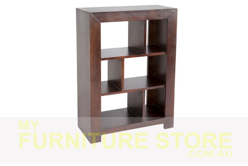 DERBY LOWLINE BOOKCASE / STAGGERED ROOM DIVIDER 3 x 3 (NO BACK) - 900(H) X 900(W) - ASSORTED COLOURS
