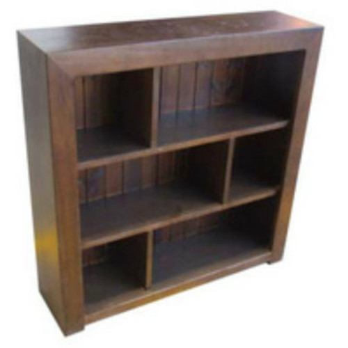 DERBY STAGGERED BOOKCASE WITH BACK - 3 x 3 - 900(H) X 900(W) - ASSORTED COLOURS