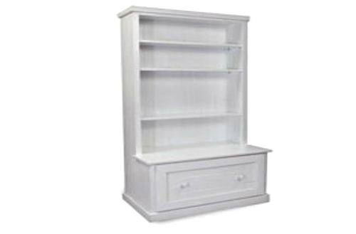 URBAN (AUSSIE MADE) BOOKCASE COMBO WITH FLAT TOP + 1 DRAWER - 1800(H) X 900(W) - WHITE ,  ANTIQUE WHITE OR WHITEWASH
