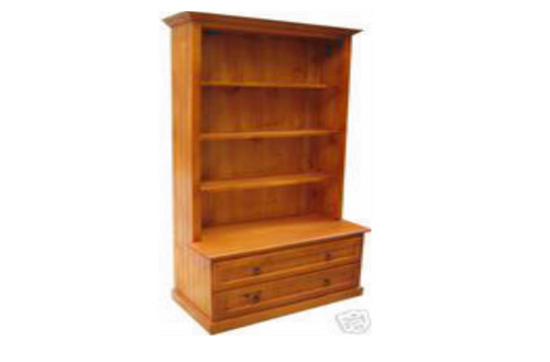 MUDGEE (AUSSIE MADE) BOOKCASE COMBO + 2 DRAWERS - 1800(H) X 900(W) - ASSORTED COLOURS