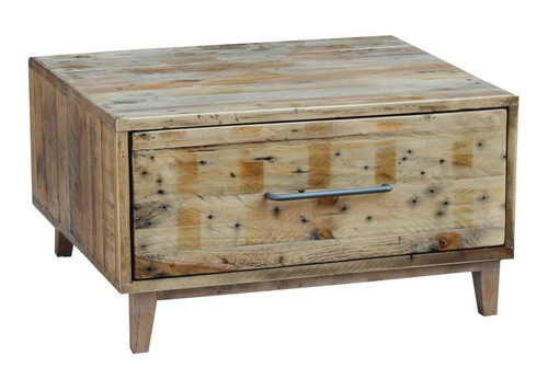 LOFTWOOD ONE DRAWER LAMP TABLE - WOOD CRATE
