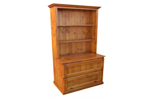 MUDGEE (AUSSIE MADE) BOOKCASE COMBO + DRAWER & LID - 1800(H) X 900(W) - ASSORTED COLOURS