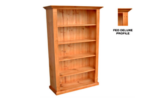 FEDERATION DELUXE BOOKCASE - 1800(H) X 900(W) - ASSORTED COLOURS