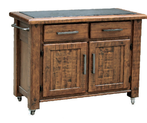 CARGO  WORK BENCH WITH 2 DOORS AND 2 DRAWERS  - COUNTRY RUSTIC