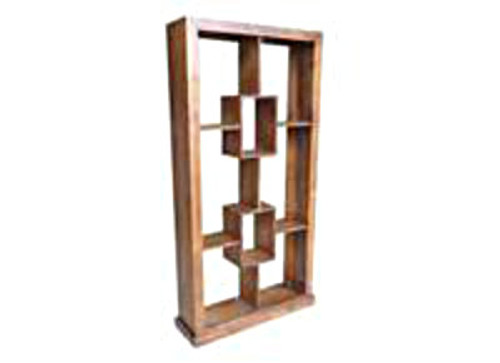 PUNCHO BOOKCASE / ROOM DIVIDER + 2 BOX IN THE MIDDLE - 2000(H) X 1000(W) - ASSORTED COLOURS