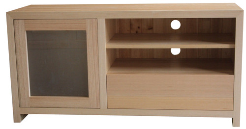 MORGAN  1 DRAWER 1 DOOR TV  ENTERTAINMENT  - TASSIE OAK - 600(H) X 1200(W)    - ASSORTED COLOURS