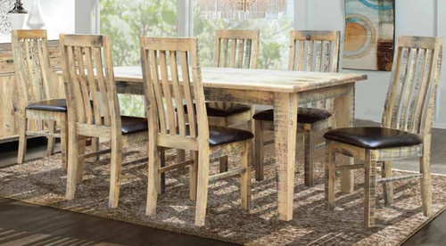 WOODSTOCK 7 PIECE DINING TABLE - 1500(L) X 900(W)   - DRIFTWOOD