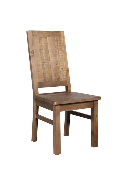 MELROSE  SOLID TIMBER DINING CHAIR  - AGED PIER