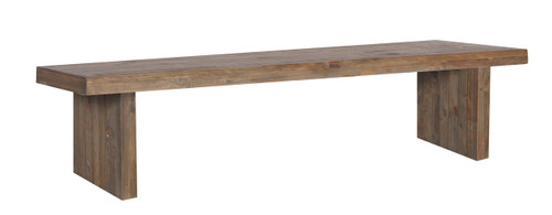 MELROSE  SOLID TIMBER  BENCH - 450(H) X 2000(W) - AGED PIER