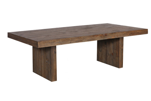 MELROSE SOLID TIMBER DINING TABLE - 2100(L) x 1050(W) - AGED PIER