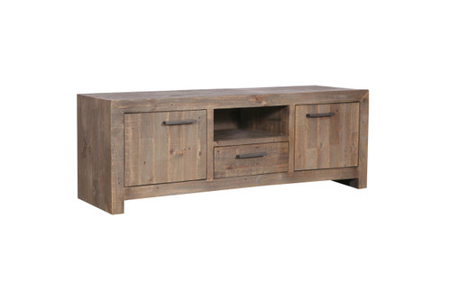 MELROSE  ENTERTAINMENT - TV UNIT WITH 2 DOORS / 1 DRAWER  - 600(H) X 1700(W) - AGED PIER