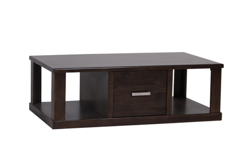 QUEENSTOWN  RECTANGULAR COFFEE TABLE WITH SHELVES  - 1270(W) - MOCHA