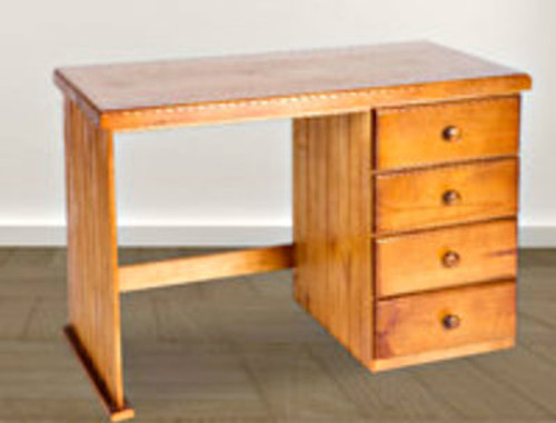 MACQUARIE (AUSSIE MADE) TIMBER DESK WITH 4 DRAWERS - 1100(W) x 550(D) - ASSORTED COLOURS