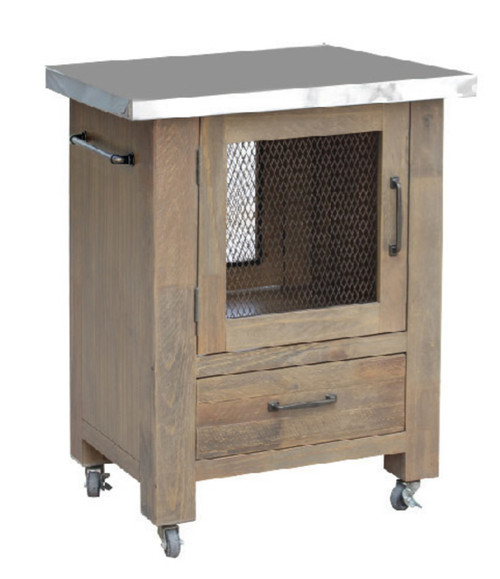 CORDIA  WORK BENCH WITH DOOR & DRAWER - AGED PIER