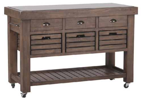 CALISTO WORK BENCH  WITH DRAWERS  & GRANITE TOP  - 1270(W)   -  OLD WALNUT