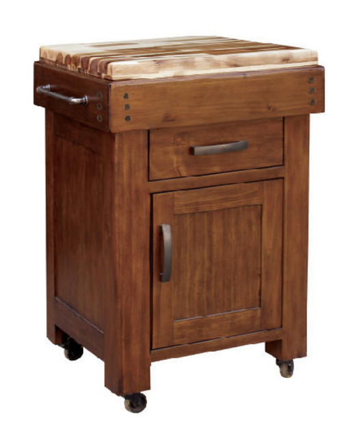 BATANG WORK HARDWOOD TOP BENCH WITH DRAWER (MODEL:3908) - 860(H) x 700(W) x 560(W) - COUNTRY WALNUT
