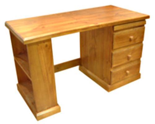 MUDGEE (AUSSIE MADE) TIMBER 3 DRAWER BOOKEND DESK (NO PENCIL SLIDE) - 1300(W) X 600(D)- ASSORTED COLOURS