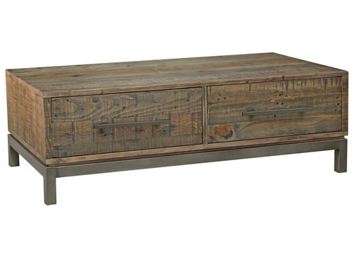 SHEFFIELD  COFFEE TABLE WITH DRAWERS  - 1270(W)  - RUSTIC BARN