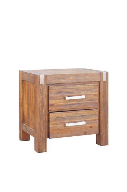 MATRIX 2  DRAWER BEDSIDE TABLE  - DESERT SAND