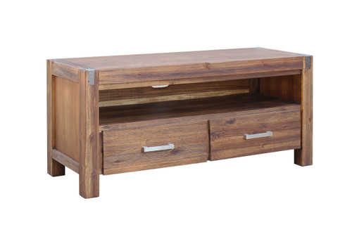 MATRIX   ENTERTAINMENT - TV UNIT WITH  TWO (2)  DRAWERS -600(H) X 1300(W) -  DESERT SAND
