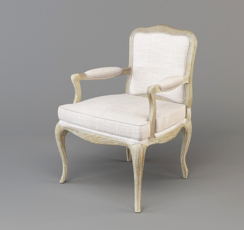 FABIAN HARDWOOD OCCASIONAL CHAIR FABRIC UPHOLSTERY - AS PICTURED