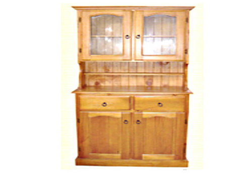 MUDGEE COLONIAL BUFFET + HUTCH - 2 DOORS / 2 DRAWERS -  - ASSORTED TIMBER COLOUR STAINS